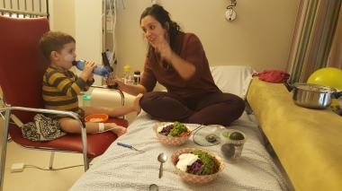 Hospital dinner (made at home...)